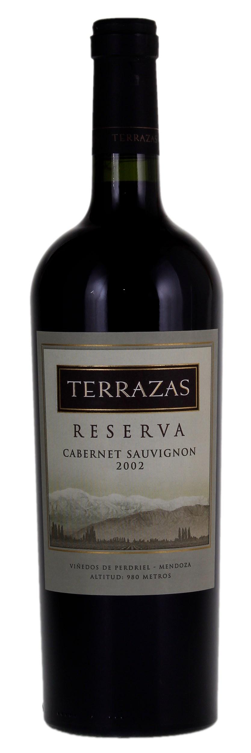 Terrazas De Los Andes Cabernet Sauvignon Reserva 2002 Red