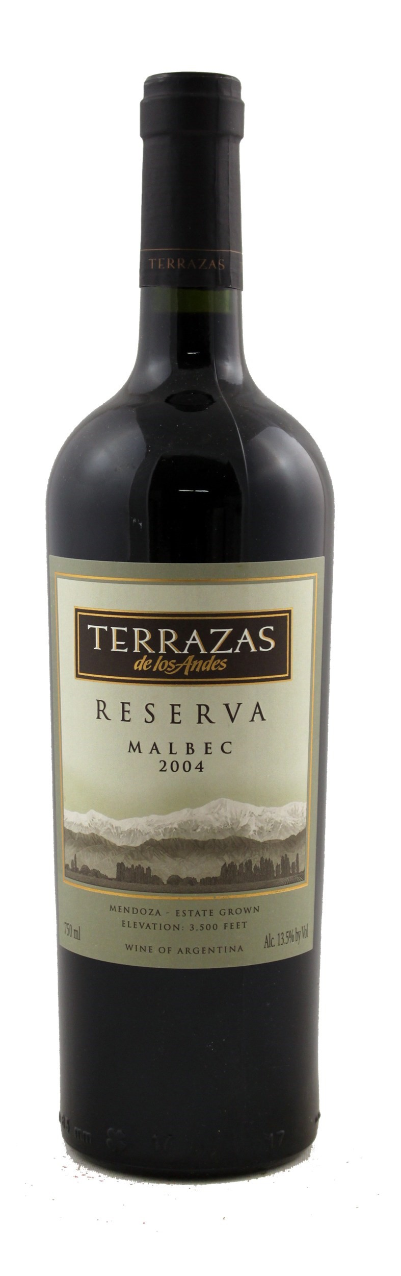 Terrazas De Los Andes Malbec Reserva 2004 Red Wine From