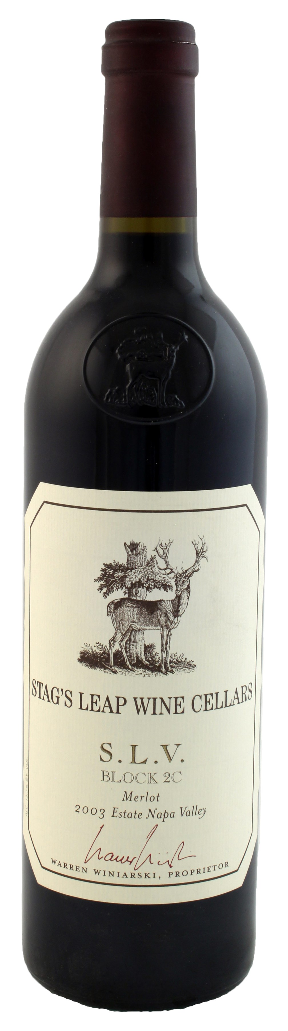 /BuyWine/Item/Auction/179796/2003-Stags-Leap-Wine-Cellars-SLV-Block-2C- Merlot.  sc 1 st  WineBid & Stagu0027s Leap Wine Cellars SLV Block 2C Merlot 2003 Red Wine from ...