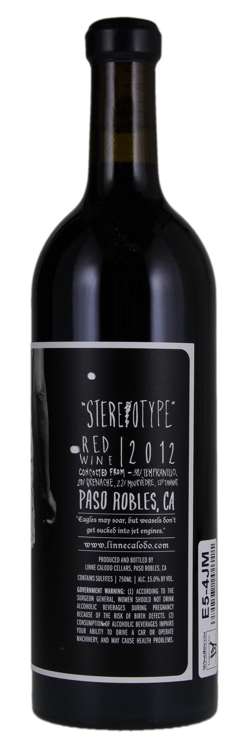 Linne Calodo Slacker Stereotype 2012, Red Wine from United