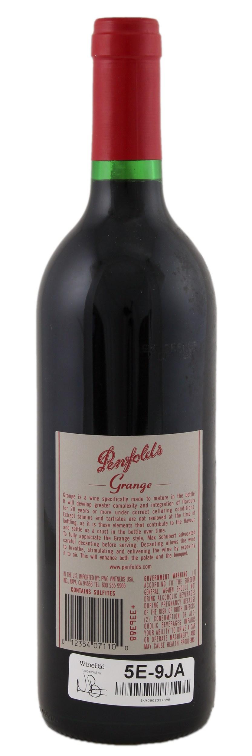 Penfolds Grange 1998 Red Wine From Australia Winebid