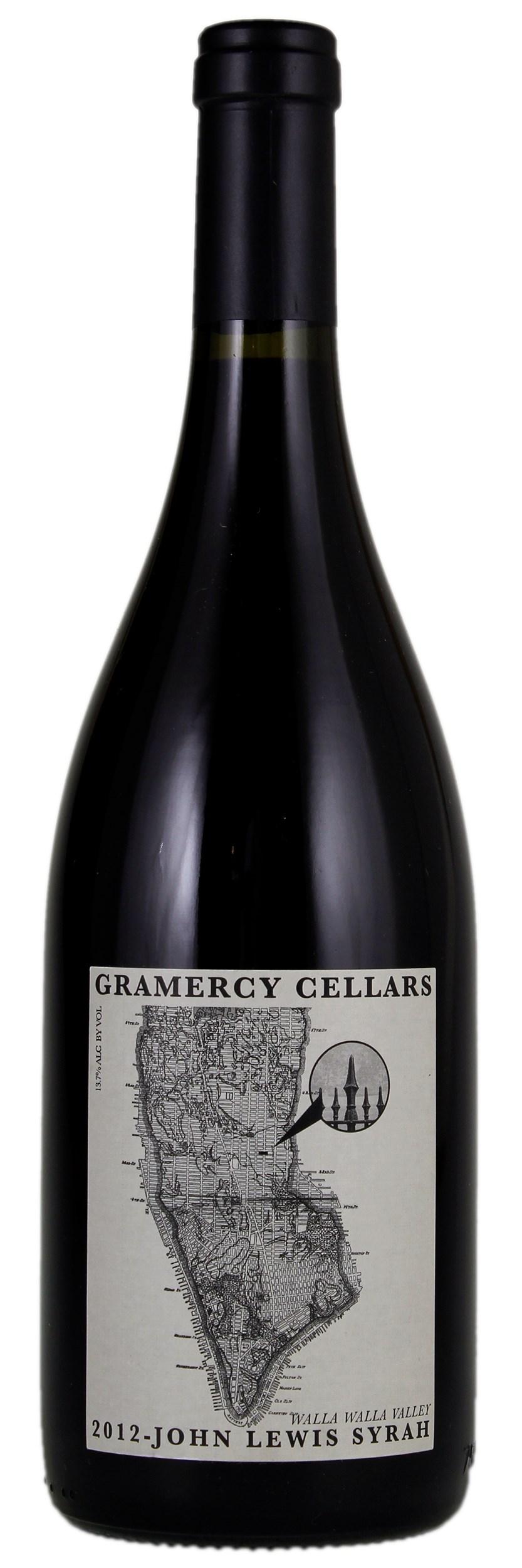 Gramercy Cellars John Lewis Syrah 2012, Red Wine from United
