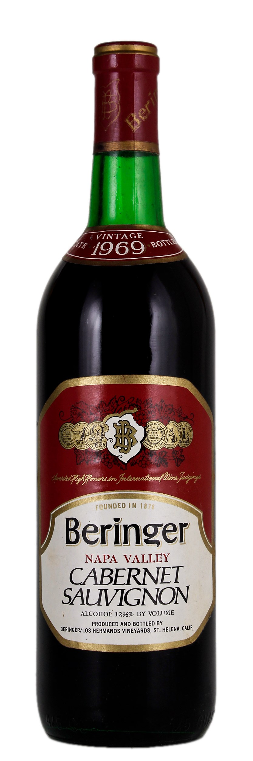 1969 Beringer Red Wine Cabernet Sauvignon Winebid