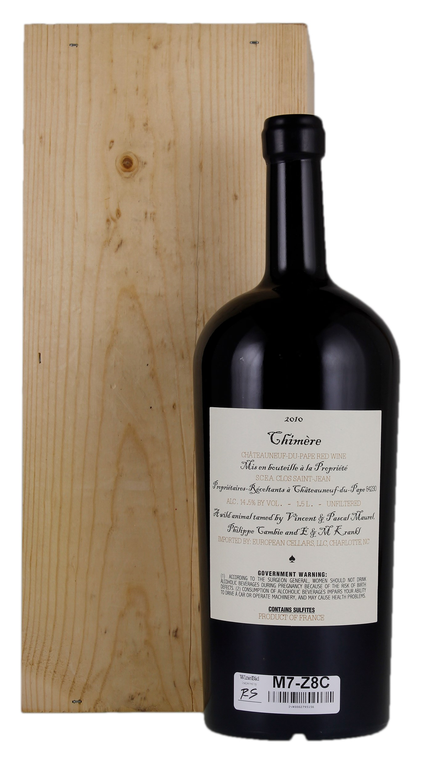 /BuyWine/Item/Auction/275192/2010-Chimere-15ltr-1-bottle-Lot-Wood-Case.  sc 1 st  WineBid & Chimere 2010 Red Wine from France - WineBid