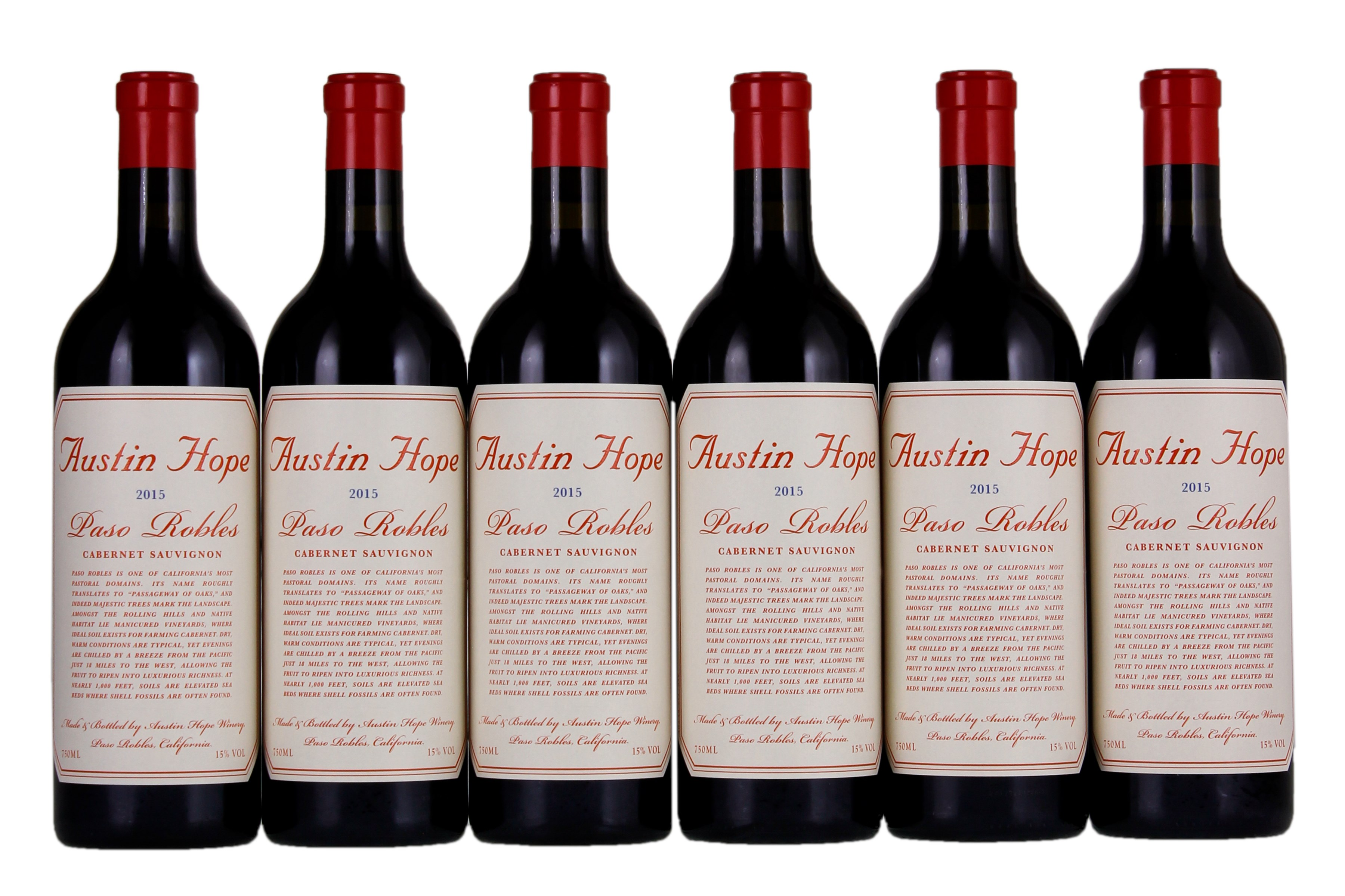Austin Hope Cabernet Sauvignon 2015 Red Wine From United States