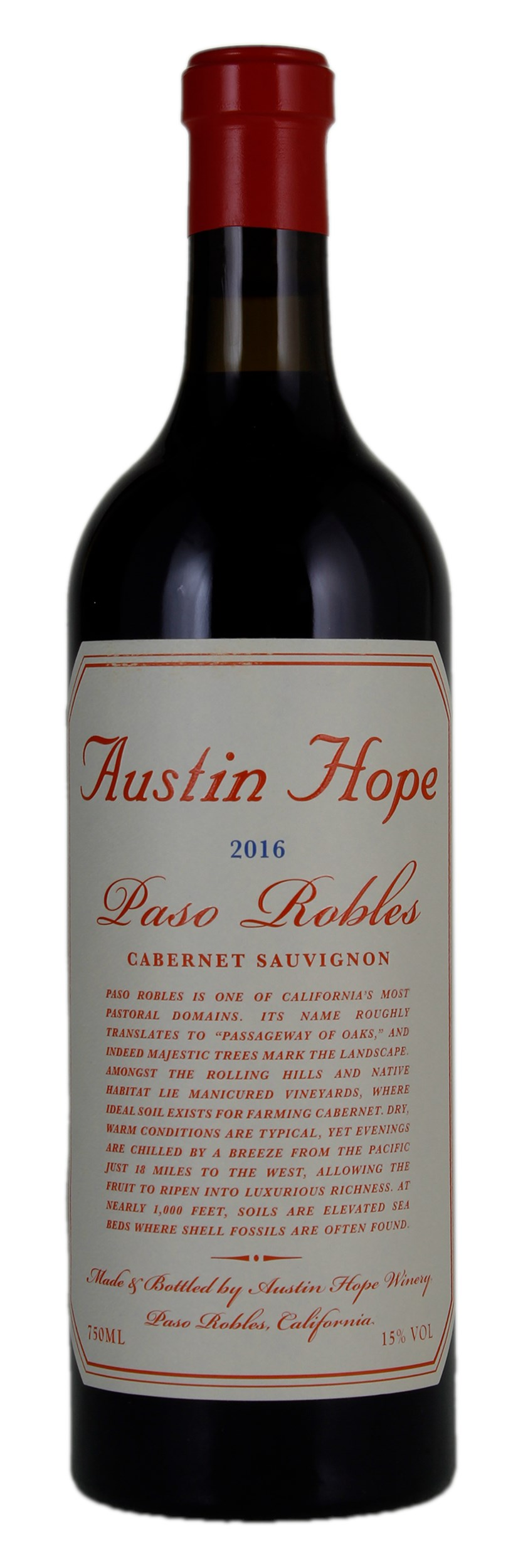 Austin Hope Cabernet Sauvignon 2016 Red Wine From United States