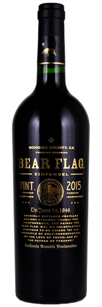 394593076b Bear Flag Zinfandel 2015
